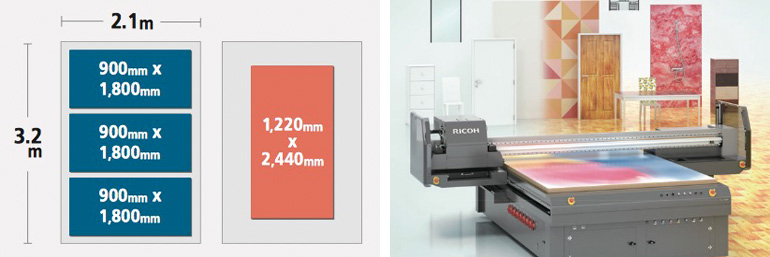 Ricoh T7210 print sizes